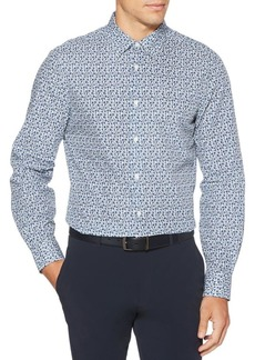 Perry Ellis Slim-Fit Floral Long-Sleeve Button-Down Shirt
