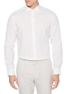 Perry Ellis Slim-Fit Linen Shirt