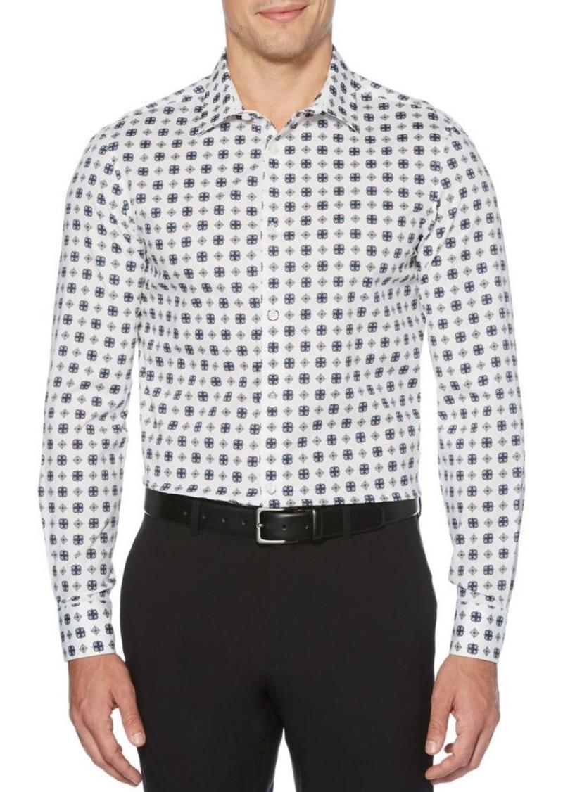 Perry Ellis Slim Fit Medallion-Print Shirt