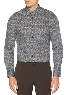 Perry Ellis Slim-Fit Optical Floral Stretch Shirt