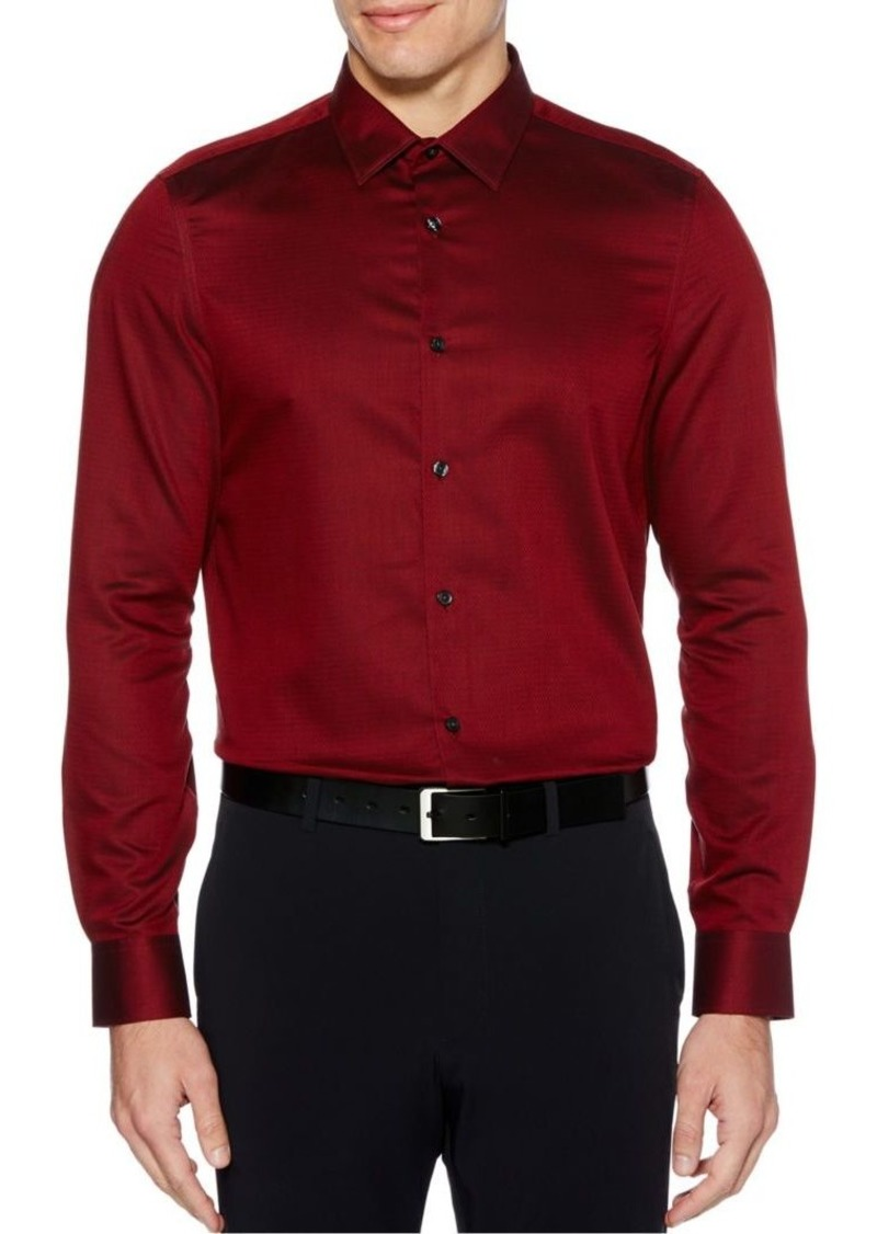 Perry Ellis Slim Fit Solid Button-Down Shirt