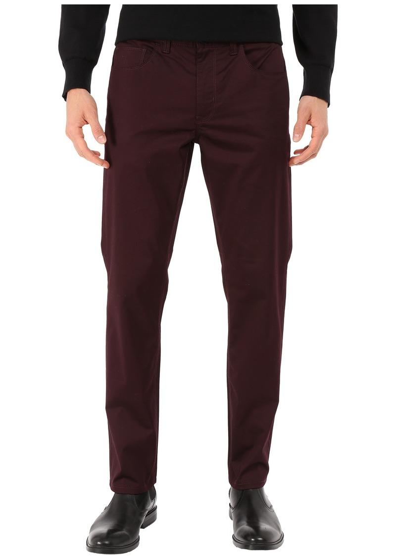 Perry Ellis Slim Fit Solid Sateen Five-Pocket Pants