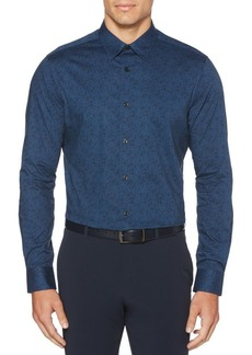 Perry Ellis Slim-Fit Speckled Button-Down Shirt