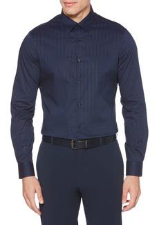 Perry Ellis Slim Stretch Mini Dot Button-Down Shirt