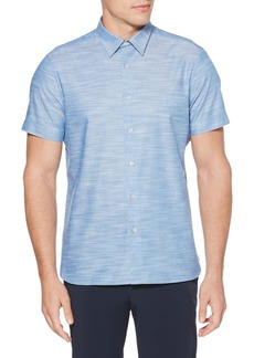 Perry Ellis Solid Cotton Slub Button-Down Shirt