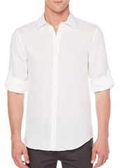 PERRY ELLIS Solid Linen Shirt