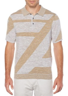 Perry Ellis Space-Dyed Striped Polo