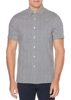 Perry Ellis Stretch Mini-Geo Print Shirt