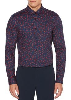 Perry Ellis Stretch Mini Rosary Button-Down Shirt