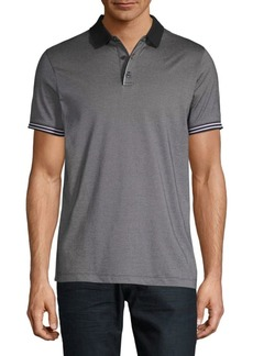 Perry Ellis Stripe-Trim Polo Shirt