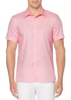 Perry Ellis Striped Short-Sleeve Button-Down Shirt