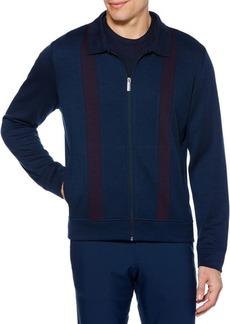 Perry Ellis Striped Zip-Front Jacket