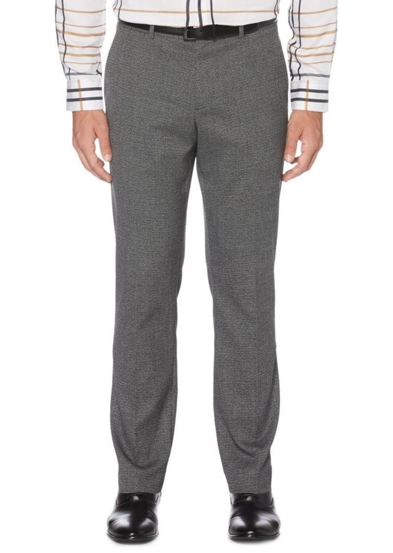 Perry Ellis Textured Slim-Fit Stretch Pants