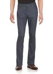 Perry Ellis Textured Straight-Fit Pants