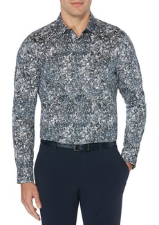 Perry Ellis Vine-Print Long-Sleeve Stretch Shirt