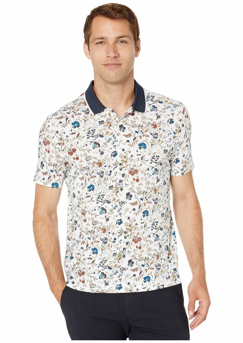 Perry Ellis Pima Cotton Floral Printed Polo