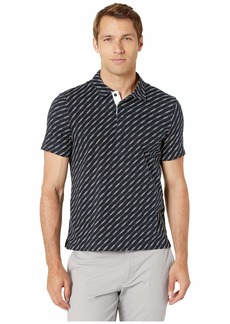 Perry Ellis Pima Cotton Printed Stripe Polo Shirt