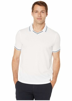 Perry Ellis Pique Open Collar Polo Shirt