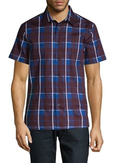 Perry Ellis Plaid Button-Down Shirt