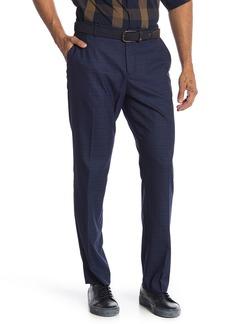 "Perry Ellis Plaid Print Stretch Slim Fit Pants - 32"" Inseam"