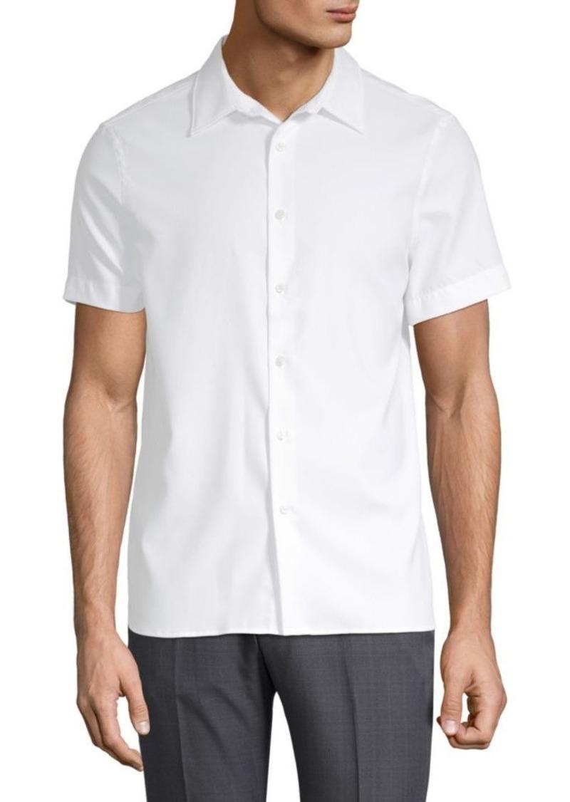 Perry Ellis Point Collar Button-Down Shirt
