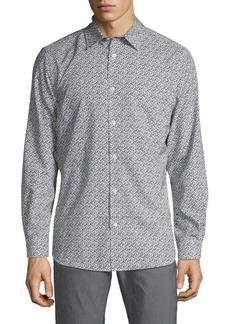 Perry Ellis Printed Long-Sleeve Shirt