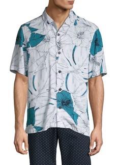 Perry Ellis Printed Short-Sleeve Shirt