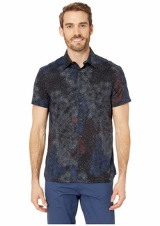 Perry Ellis Regular Fit Stretch Splatter Print Shirt