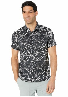 Perry Ellis Shattered Labyrinth Print Shirt