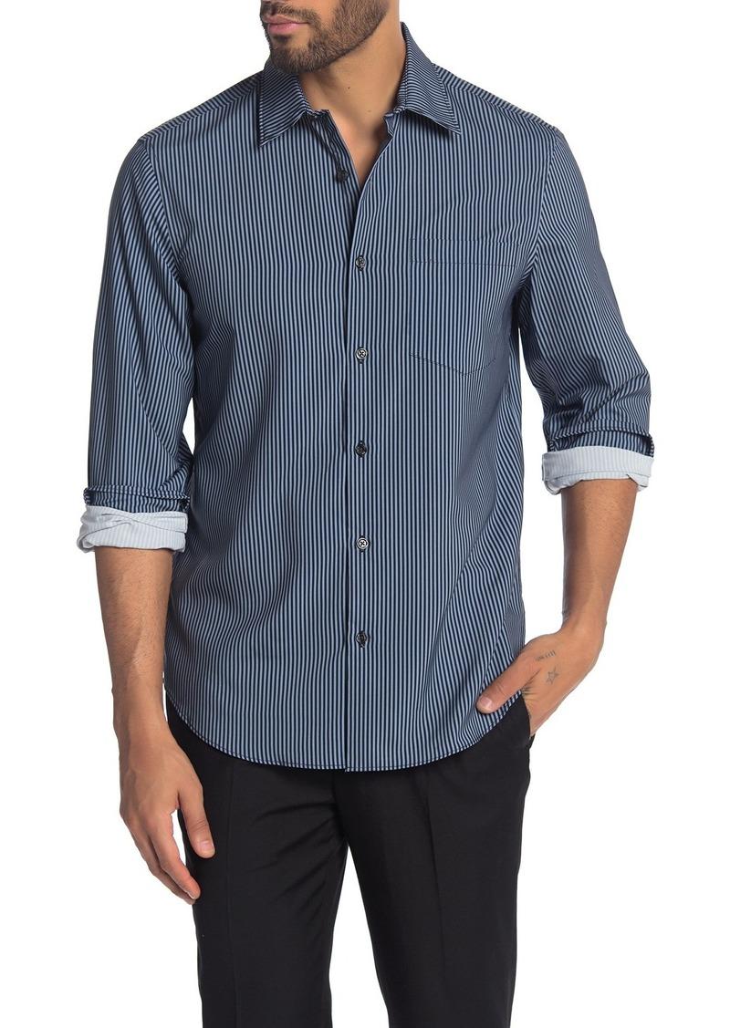 Perry Ellis Shine Stripe Print Slim Fit Shirt