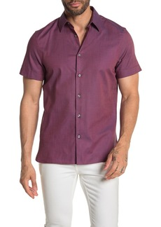 Perry Ellis Short Sleeve Button Down Shirt