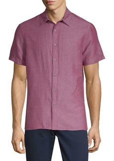 Perry Ellis Short-Sleeve Button-Down Shirt