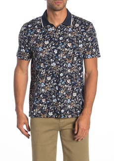 Perry Ellis Short Sleeve Floral Polo