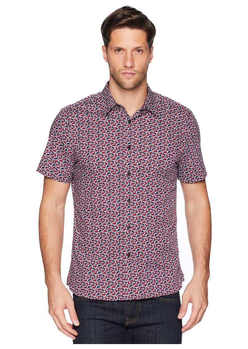 Perry Ellis Short Sleeve Floral Print Shirt