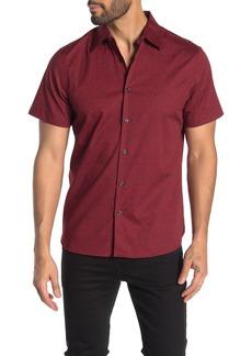 Perry Ellis Short Sleeve Lighting Bolt Slim Fit Shirt