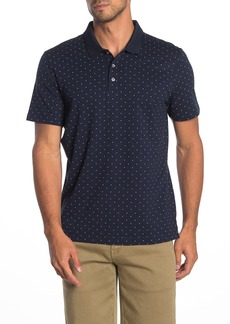 Perry Ellis Short Sleeve Micro Print Polo