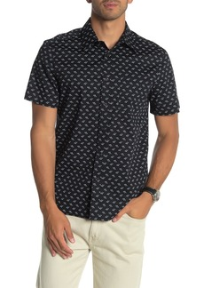 Perry Ellis Short Sleeve Screw Print Slim Fit Shirt