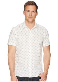 Perry Ellis Short Sleeve Slashed Dot Shirt
