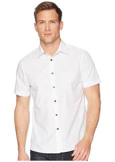 Perry Ellis Short Sleeve Slub Space Dye Shirt