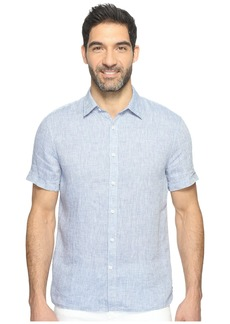 Perry Ellis Short Sleeve Solid Linen Shirt