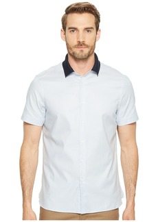 Perry Ellis Short Sleeve Stretch Knit Collar Shirt