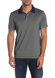 Perry Ellis Short Sleeve Stripe Cuff Polo