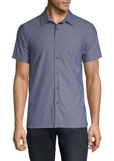 Perry Ellis Slim-Fit Dobby Button-Down Shirt