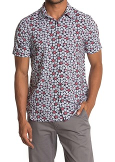 Perry Ellis Slim Fit Floral Print Shirt