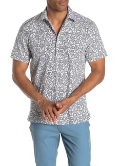 Perry Ellis Slim Fit Floral Print Shirt