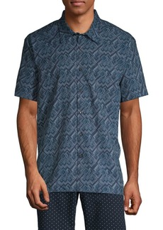 Perry Ellis Slim-Fit Geometric Shirt