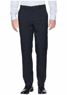Perry Ellis Slim Fit Heathered Plaid Dress Pants