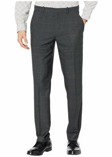 Perry Ellis Slim Fit Large Windowpane Dress Pants