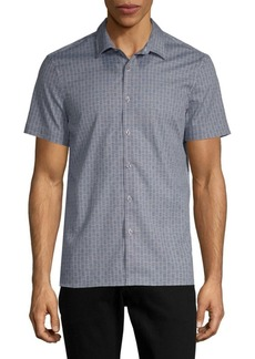 Perry Ellis Slim-Fit Printed Button-Down Shirt