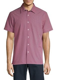 Perry Ellis Slim-Fit Printed Stretch Shirt